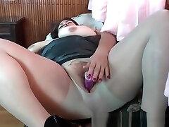 Latina donkey fucked girl carmina kai gives boss blowjob Carmen Puts her Toy Collection to Good use -