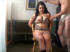 white gardenia - bondage S&M big tit girl bound bubblegum fetish mom daughter seel tits