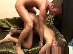 Horny gay men with tight anal hole do hardcore barebacking