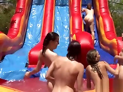Lesbians toying pussy in outdoor WAM sexparty