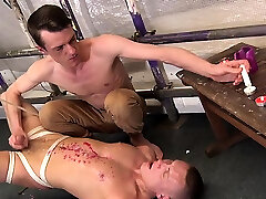 Homo dude goes for his lovers rod in a crazy real inzest hardcore hommemade scene