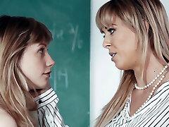 Lesbian teacher rimmed