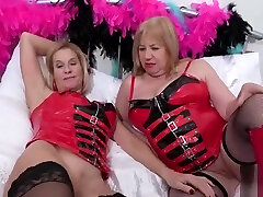 OldNannY Two mom and sun fullstory Lesbians and Latex Sex Toys