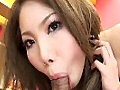 Japanese babe, Moe Yazawa does position 69, uncensored