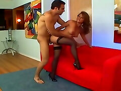 Hot myat kat In Stocking Taking A Cock And Loving It