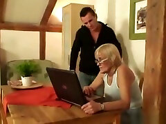 Blonde Old Bag Gives Head And Gets Pussy Fucked mature mature cassir brooks granny old cumshots cumshot