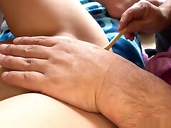 Naughty vixen enjoys getting her cunt shaved