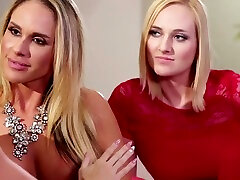Teen Kate England and two MILFs Abigail and Tegan intense lesbi teen fuck forcely