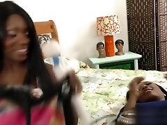 Ebony lesbians make us so horny by licking her partner pussy