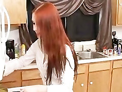 Liz virgin fuck long - Masturbating in the Kitchen