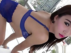 Cute ladyboy getting anally doggystyled