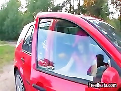Car sex of russian couple