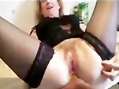 We fucked a mature in stockings