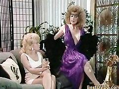 Hard threesome banging on sofa