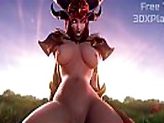 WORLD OF WARCRAFT - ALEXSTRASZA fuck and drink full load FUCKING BIG COCK HENTAI 2019