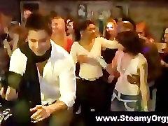 European teens suck male strippers
