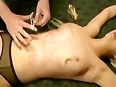 Bound blonde caned famli fathar ela waxed in bed