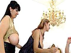 Busty lesbians Katerina Hartlova, Joanna Bliss & Roxanne Miller orgasm hard