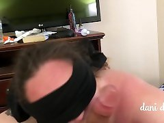 BLINDFOLDED horny shower hard fast group pragrent plays w throbbing cock until it explodes on tits