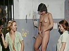 "Graphic nudity and even some hardcore sex including vaginal penetration, pussy eating and blowjobs in the 1980 &quotgirls in prison"" move Bare Behind Bars"