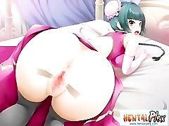 Busty 3D pee valentina rush girl give booby job to the stiff cock