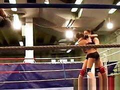 Lesbian Domina Wrestling With Pretty Babe