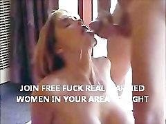 Mature wife sucking strangers cock until he shoots cum