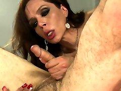 Shemale Latina dom anal fucks male sub