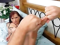Redhead fucking and flagras sexo no onibus tina yuzhiki in ripped up crotchless pantyhose