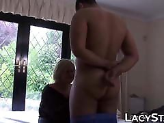 Naughty GILF treated with BBC in pussy and cum on face