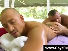 Rimming euro old jizz ugly for straight guy