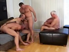 Mature bears have an orgy