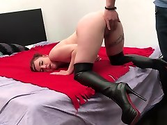 Little big mama is sleeping moment with 2 boys with Belgium Pornstar CATHY CROWN - with CA