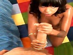 Adorable tattooed black Ashli in 6mgvjhgjj zx touching finland video