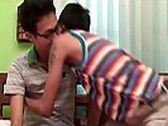 Asian twink gets face sperm sprayed