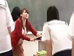 asian teacher fucks in class