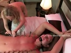 Blonde busty newly wed wife transforms into wild mistress bitch a