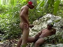 Latino cute twinks outdoor bareback sex cums