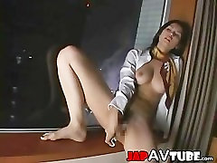 Hot breton warming chick do it by herself