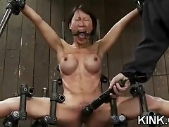 Tough chick with hot natural body bound