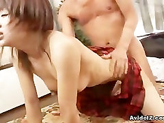Japanese schoolgirl threesome in great close up