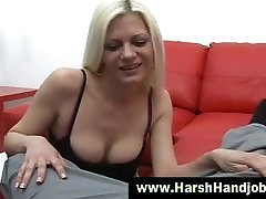 Femdom she get pussy massage humiliation