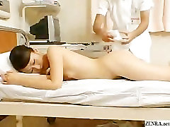 Female Japanese patient has special nude examination