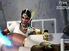 3D Symmetra Plays with Her New Friend