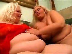 2 Horny Fat suny loeen Lesbian friends love pussy-1