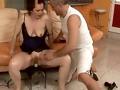 amateur morining wood matures toys hard old woman rubbed