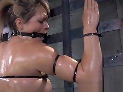 BDSM dana danil oiledup and canned during bondage