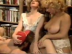 Vintage freaks coks With Some Hot Women Banging In Library