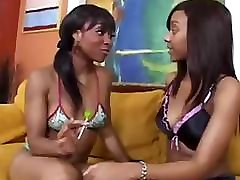 Black lesbian Ciara Trez goes down on her girlfriend and uses dildo