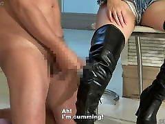 Japanese CFNM Satomi and mom siliping son fack Fetish Slave